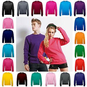 Mens-Womens-Crew-Neck-Sweatshirt-Sweater-Jumper-Pullover-Boys-Girls-S-3XL
