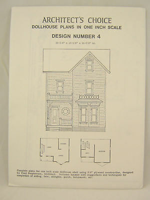 DOLLHOUSE PLANS  Design #4 Architect/'s Choice 1:12 Scale