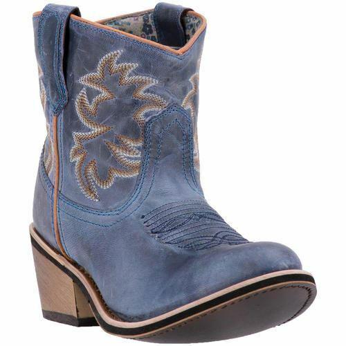 Laroto Damen Sapphrye Western Cowboy Leder Stiefel Marineblau 51026