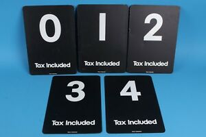 Details about Stout Industries metal gas station numbers Mobil Gas complete  set of 5