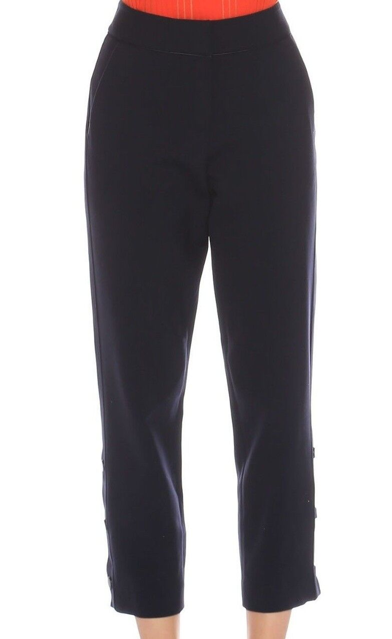 Karen Millen Slim Leg Capri Slim Stud Ankle Casual Formal Trousers UK 8 36