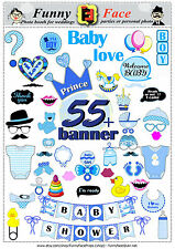 55 Baby Shower boy Photo Booth Props  banner - Instant Download - Printable