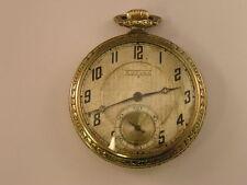 Rare Dudley Model 1 Masonic Pocket Watch 19 Jewel 14k Gold Case ser # 562 1924
