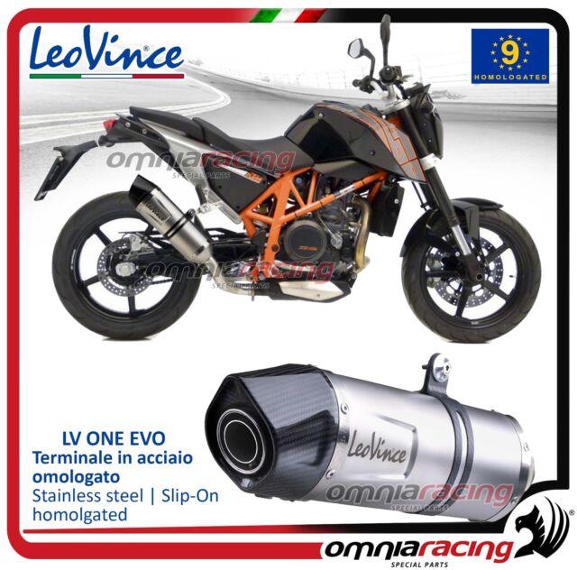 Leovince LV ONE Evo Tubo de Escape acero aprobado KTM 690 Duke 2012>2015