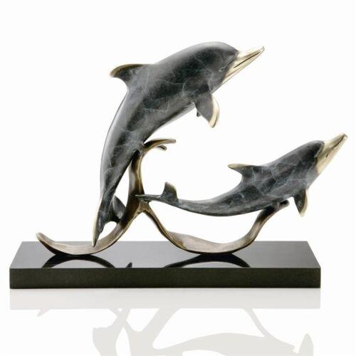 Sailor/'s Delight Double DAUPHINS sculpture laiton nautique côtière par SPI Home