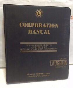 Nevada Revised Statutes >> Corporation Manual Nevada Revised Statutes Chapters 78 80 Used