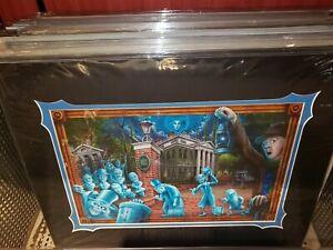 Disney-Parks-Haunted-Mansion-50th-The-Haunted-Mansion-Fraser-Print-New-Caretaker