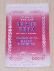 BRITISH-GRAND-PRIX-1953-FORMULA-ONE-F1-SILVERSTONE-Official-Race-Programme