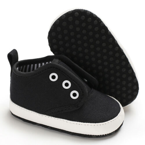 Newborn Baby Boy Girl Crib Shoes First Shoes Soft Sole PreWalker Sneakers 0-18 M