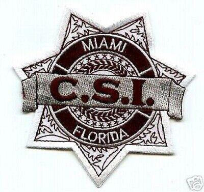 CRIME SCENE INVESTIGATIONS POLICE Patch FL CSI PANAMA CITY