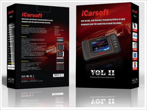 iCarsoft VOL II Fits VOLVO /& SAAB OBD2 Code Reset Diagnostic Scanner Tool