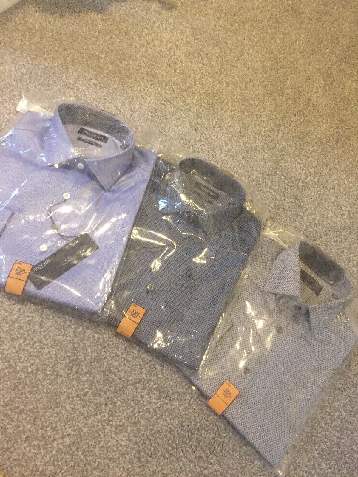 3 x Brand New Mens Smart Formal Work Shirts From M&S 14.5 Inch