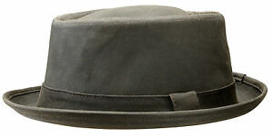 Image is loading Stetson-Odenton-Distressed-Cotton-Pork-Pie-Hat 30e55d7a601