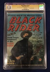 Black-Rider-8-1-CGC-SS-1-5-Restored-Signed-by-Stan-Lee-amp-STAN-LEE-ON-COVER