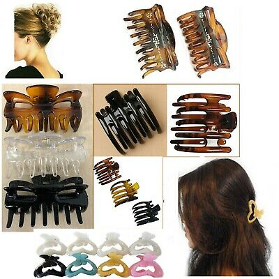 3 Claw Clips Hair Clamp Large Clamps Butterfly Grip Bulldog Up Updo Styling Clip Geschickte Herstellung