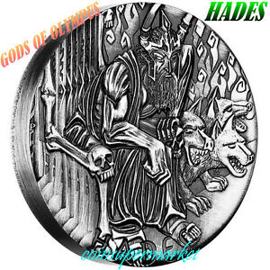Australia-2014-Gods-Of-Olympus-Hades-2oz-Silver-High-Relief-Coin-Mintage-1500