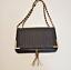 thumbnail 2 - Bebe Black Crossbody Purse Gold Hardware Handbag