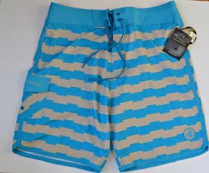42e616a61c Body Glove Mens 34 Board Shorts Swim Trunks Surf Aqua Grey Spandex ...