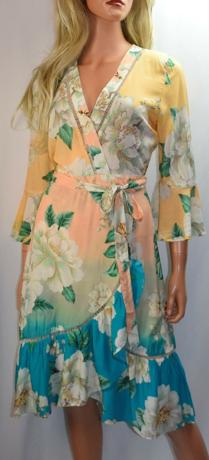 NWT FARM RIO Sunset Wrap Dress Size X Small