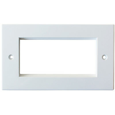 Double 2 Gang Modular Wall Face Plate Frame Blank Euro Module Data CAT6 25x50mm