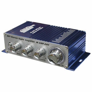 NEW-ISAMP220-Installation-Solutions-Mini-Stereo-Amplifier-with-3-5-Aux-input