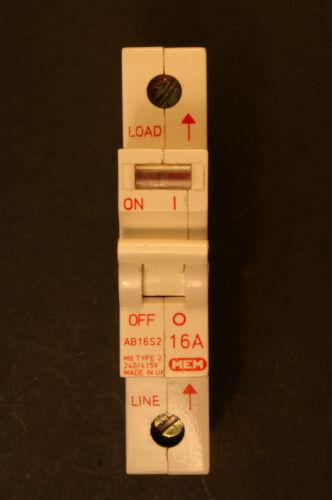 MEM Memera 2000 range AB Type 2  Type B   MCB Circuit Breaker  100A Main switch