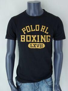 orig-RALPH-LAUREN-T-Shirt-mit-Aufdruck-Gr-S-amp-L-schwarz-NEU