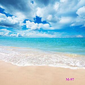Sunny Sea Beach Vinyl Photography Backdrop Background Studio Props 10x20ft M-97