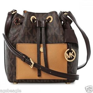 Image is loading Michael-Kors-Bag-30H5GG1M1V-MK-Greenwich-Small-Bucket- 95bf5bb6fde30