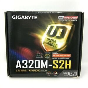 NEW-GIGABYTE-GA-A320M-S2H-AMD-Ryzen-3000-Series-BIOS-Ready-AM4-mATX-Motherboard
