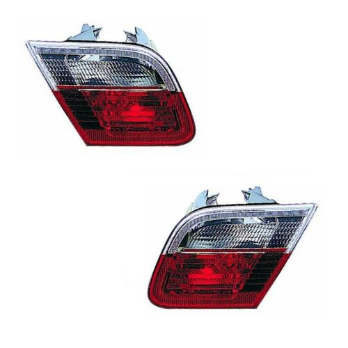 For BMW 3 Series E46 Cabriolet 1998-2003 Rear Inner Lights Lamps Pair OS NS