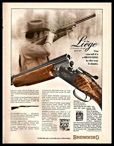 Details about 1973 BROWNING Liege Over Under Shotgun AD Vintage Gun  Advertising
