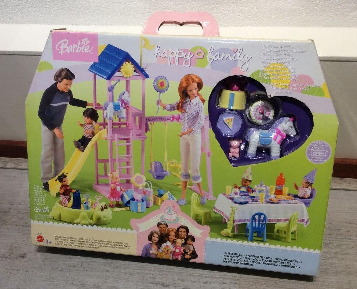 Happy Family Nikki 1st Birthday playset NRFB Barbie Midge Alan Neighbourhood