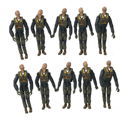 10PCS 21st Century Toys 1:18 The Ultimate Soldier WWII U.S Action Figure Toys