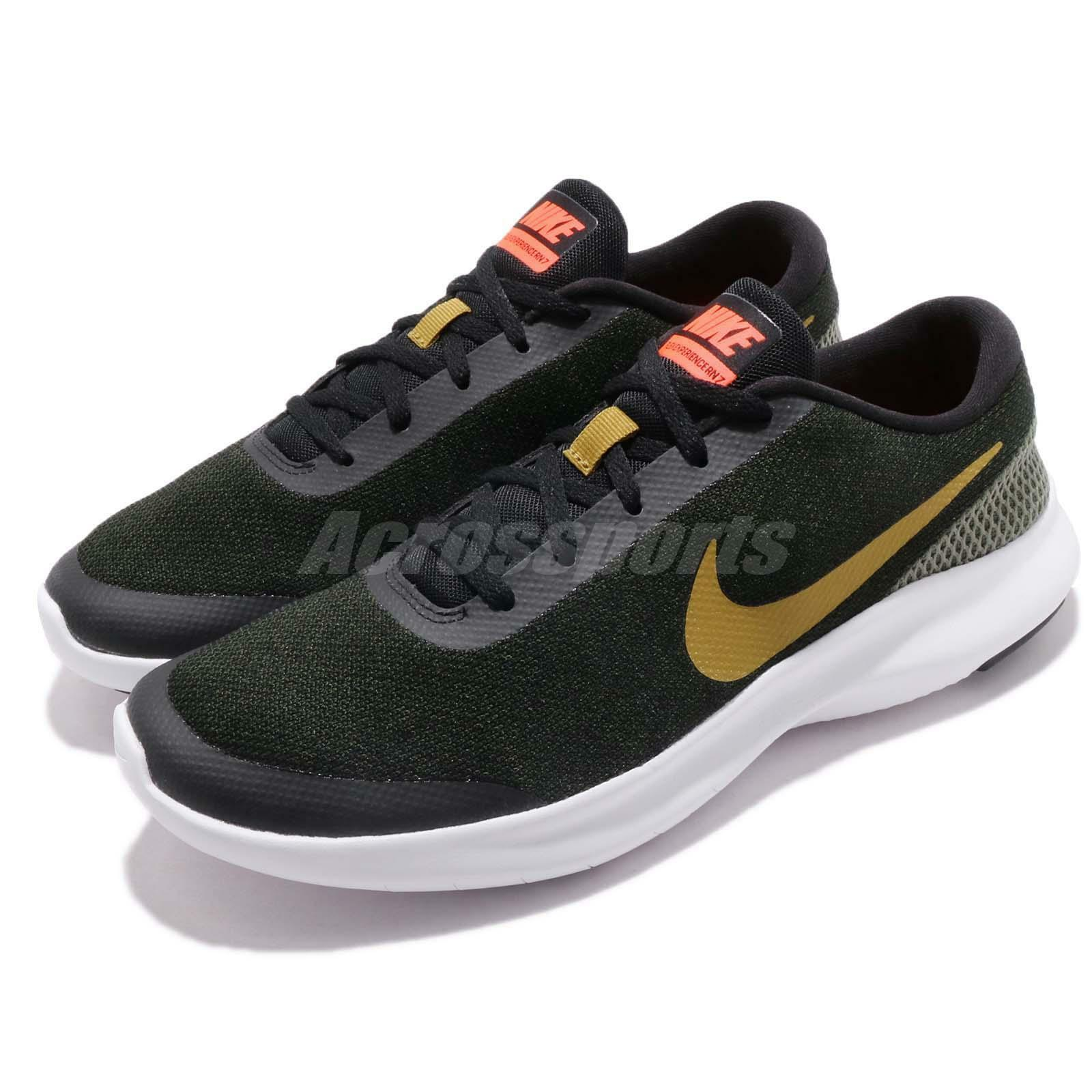 Nike Flex Experience RN 7 Black Peat Moss Olive Men Running shoes 908985-015