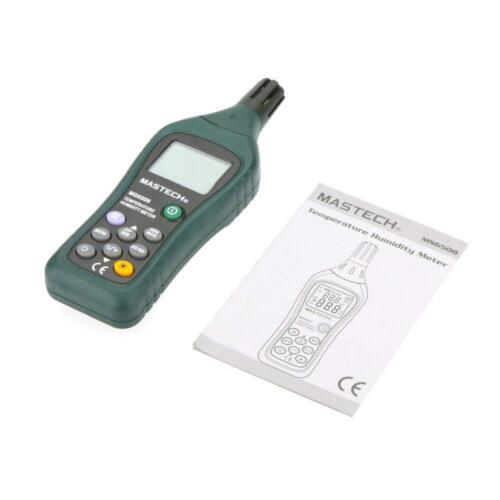 New Professional temperature humidity Meter backlight C F data log 100 MS6508 US