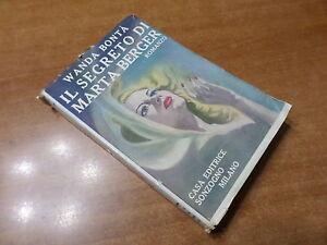 Wanda-Bonta-IL-SEGRETO-DI-MARTA-BERGER-Sonzogno-1950
