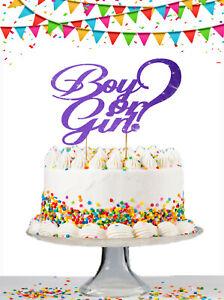 Gender-Reveal-Cake-Topper-Baby-Shower-Cake-Topper-Boy-Or-Girl-Cake-Glitter