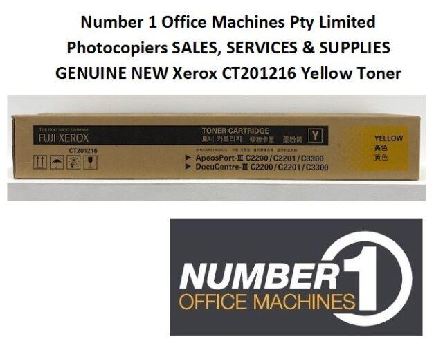 Genuine Xerox CT201216 Yellow Toner- ApeosPort/DocuCentre III C2200/C2201/C3300