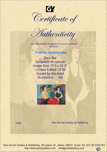 Patricia Govezensky Esco Bar Giclee on Canvas Limited Edition of 50 Very rare