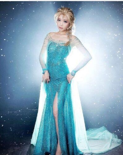 Cosplay Queen Frozen Dress Elsa Snow Shoes Dress CqUP1