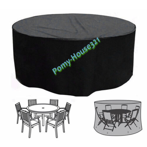 Heavy Duty 4 Seater Table Desk Chair Cover Square Furniture Cover Outdoor Garden