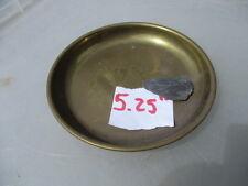 "Vintage Brass Scales Pan Bowl Dish Round Antique Balance Old Weighing  5.25""W"