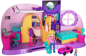 Polly Pocket FRY98 Polly/'s Go minuscule Playset