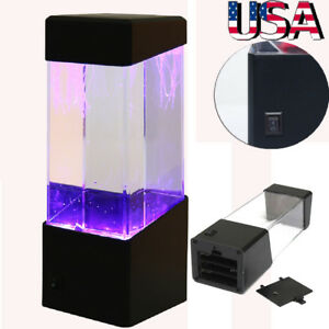 Aquatic-Jellyfish-Volcano-Tank-LED-Water-Lamp-Aquarium-Night-Light-Xmas-Gift