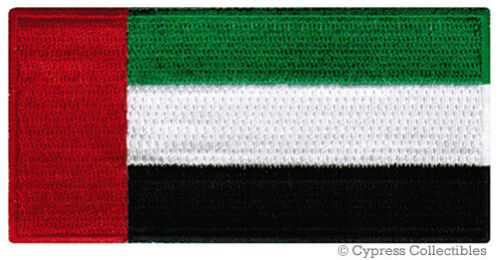 UAE FLAG embroidered iron-on PATCH UNITED ARAB EMIRATES MUSLIM NATIONAL EMBLEM
