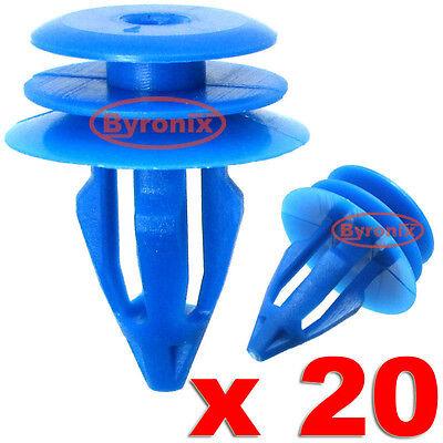 50x LAND ROVER RANGE ROVER EVOQUE clip in plastica per Anteriore e Posteriore Passaruota Trim