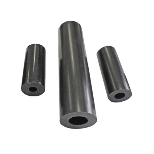 "5 Black Plastic Spacers .500/""OD x 1//4/""ID x 4.00/""Long LDPE"