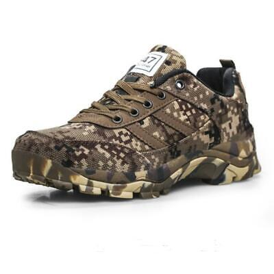 Men/'s military camo canvas breathable outdoor work casual shoes lace up sneaker