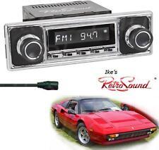 RetroSound Ferrari/Fiat LAGUNA-C Radio/3.5mm AUX-In for ipod/Becker Black